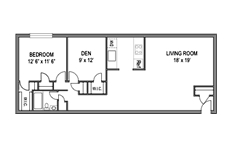 Columbia Park 1bed