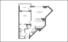 TheAmelia 1bed